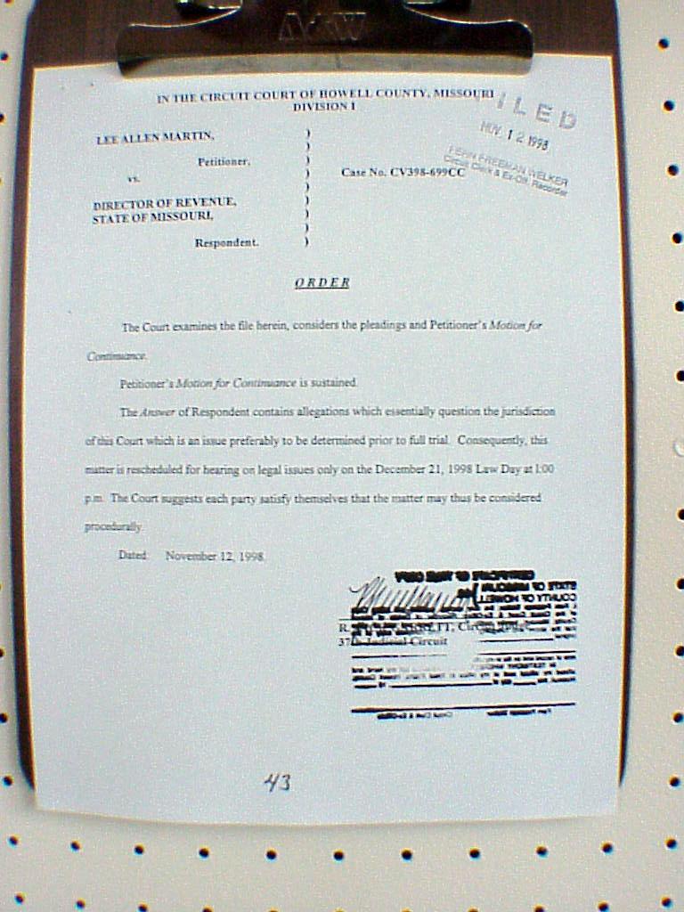 Supplimental Legal File